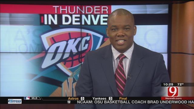 Thunder Dominate Nuggets In Denver