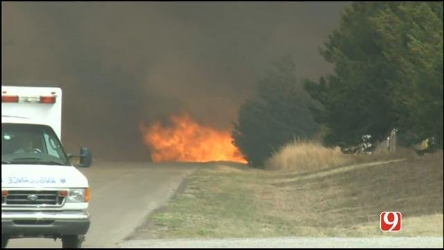 WEB EXTRA: Marty Logan On Scene Of Large Wildfire In Woodward County