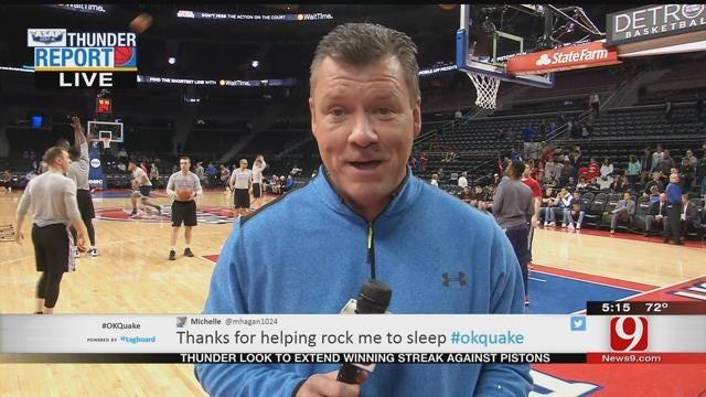 Thunder Set To Take On Pistons In Detroit