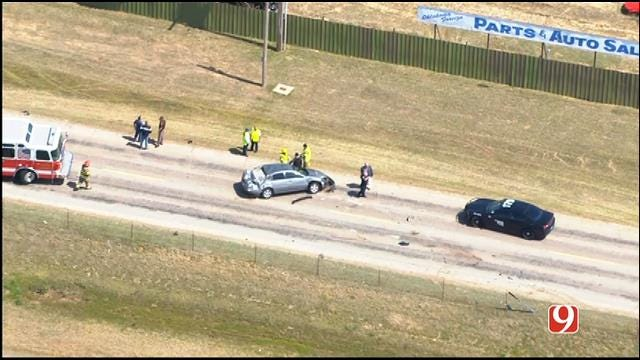 WEB EXTRA: SkyNews9 Flies Over Rollover Crash On NB I-34 In Norman