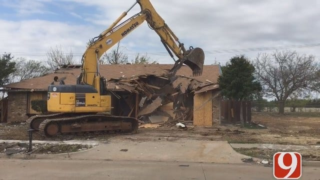Demolition Crews Tear Down NW OKC Homes Damaged In Gas Explosion