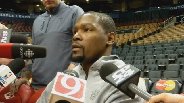 KD & Russ Talk With Reporters In Toronto