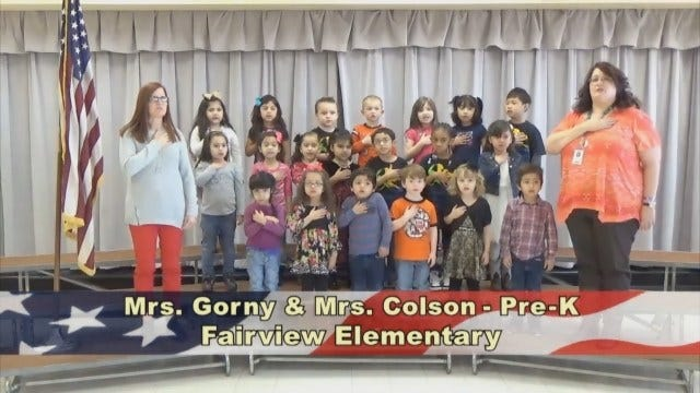 Mrs. Gorny and Mrs. Colson's Pre-Kindergarten Class At Fairview Elementary