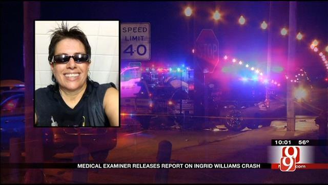 Medical Examiner Releases Report On Ingrid Williams Crash