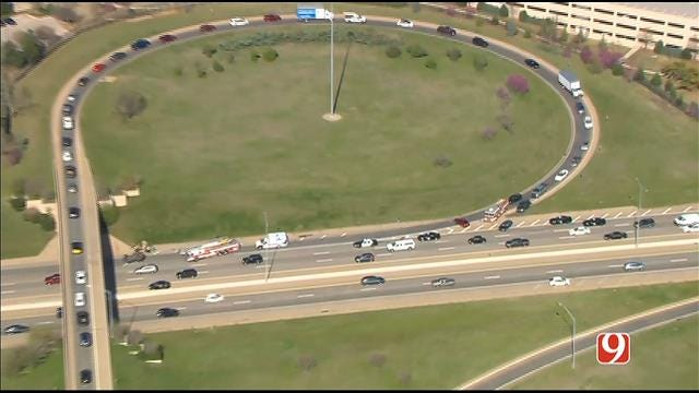 WEB EXTRA: SkyNews 9 Flies Over 2-Vehicle Rollover Crash On NB I-235