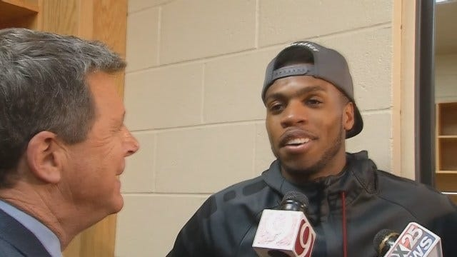 Buddy Hield Talks With Reporters After Spectacular Second Half Performance Against VCU