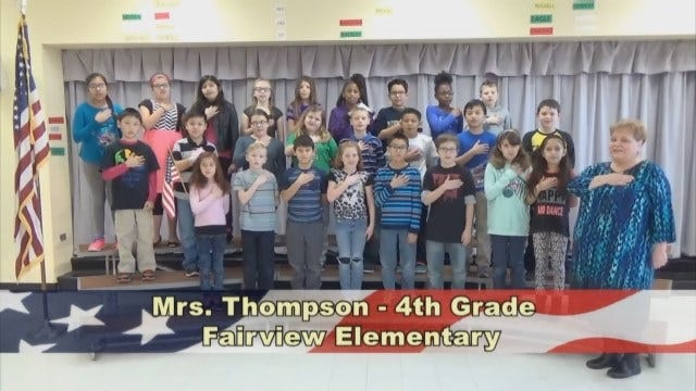 Mrs. Thompson's 4th Grade Class At Fairview Elementary