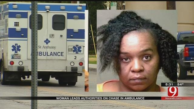OKC Woman Leads Authorities On Chase In Stolen Ambulance