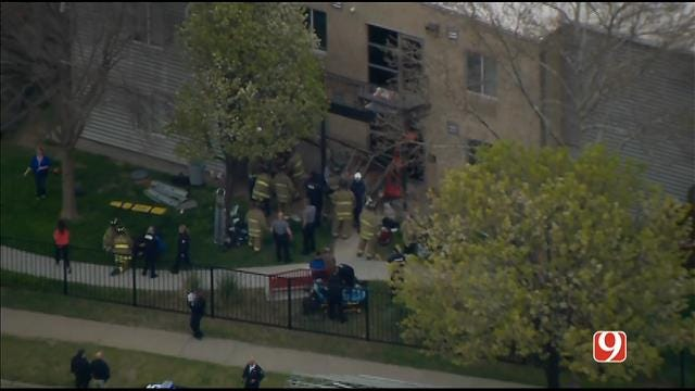 WEB EXTRA: SkyNews9 Flies Over Balcony Collapse At City Rescue Mission