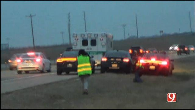 WEB EXTRA: News 9 On Scene Of End Of Stolen Ambulance Chase