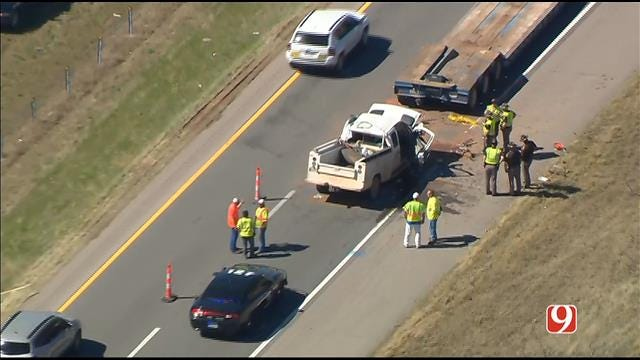 WEB EXTRA: SkyNews 9 Flies Over Deadly Crash On WB I-40
