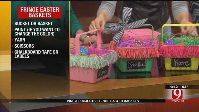 Pins & Projects: Fringe Easter Baskets