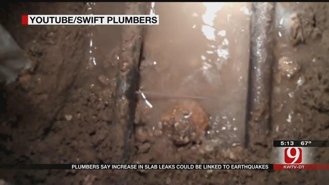Plumbing Company Says Earthquakes May Be Causing Increase In Slab Leaks