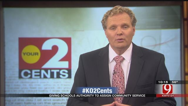 Your 2 Cents: Lawmaker: Schools To Be Allowed To Give Kids Community Service