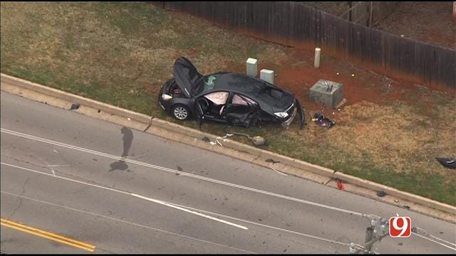 Injury Crash Shuts Down N. MacArthur In NW OKC