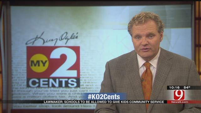 My 2 Cents: Lawmaker: Schools To Be Allowed To Give Kids Community Service