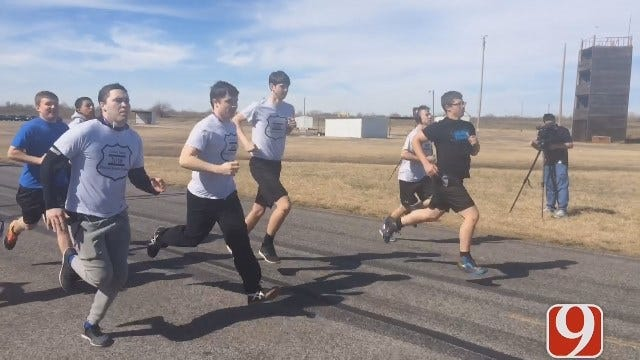OK Students With Law Enforcement Goals Practice Physical Fitness Test
