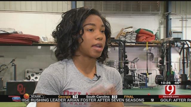 WATCH: OU Track & Field's Baileh Simms Sets High Goals