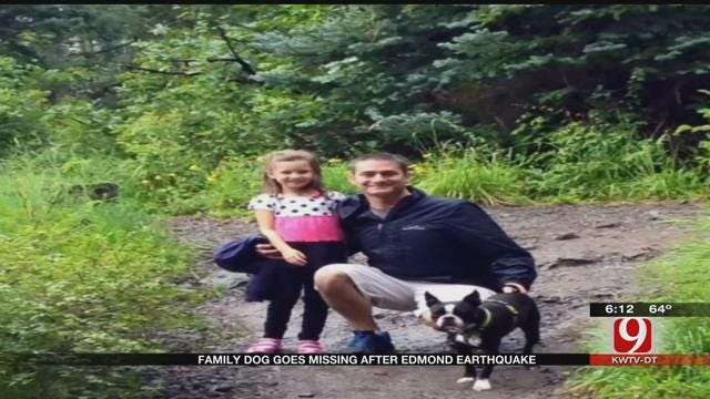 Family Dog Goes Missing Following Edmond Earthquake