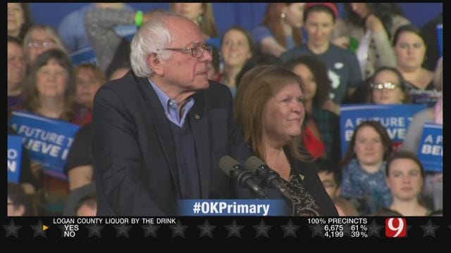 Bernie Sanders Projected To Win 4 States Including Oklahoma