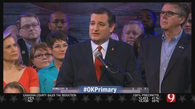 Ted Cruz Projected To Win Oklahoma, Texas