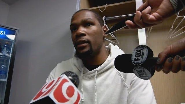 Durant Talks Win Over Kings