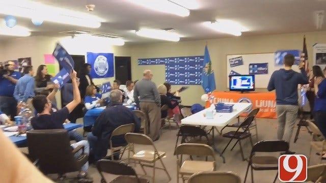 WEB EXTRA: Clinton's OK Campaign HQ Celebrates Wins In Tennessee, Alabama