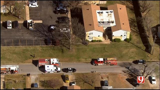 WEB EXTRA: SkyNews 9 Flies Over Shooting At NW OKC Apartment Complex