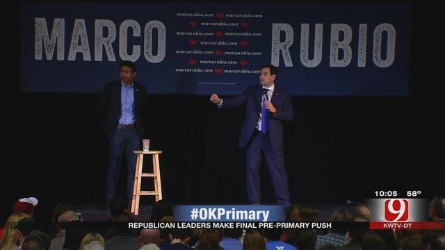 Marco Rubio Speaks To Voters At Putnam City North High School Before OK Primary