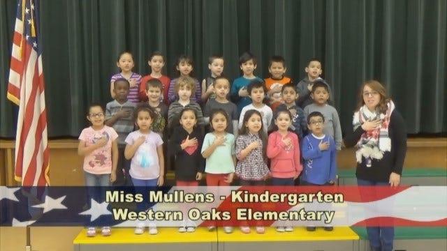 Miss Mullens'Kindergarten Class At Western Oaks Elementary