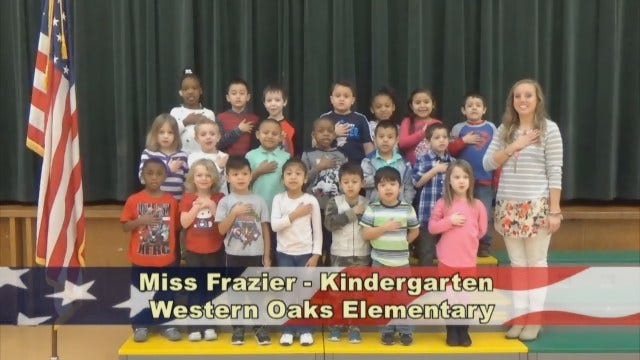 Miss Frazier's Kindergarten Class At Western Oaks Elementary