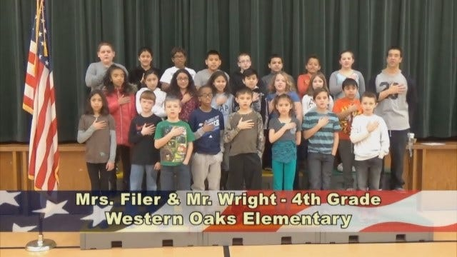 Mrs. Filer and Mr. Wright's 4th GradeClass At Western OaksElementary