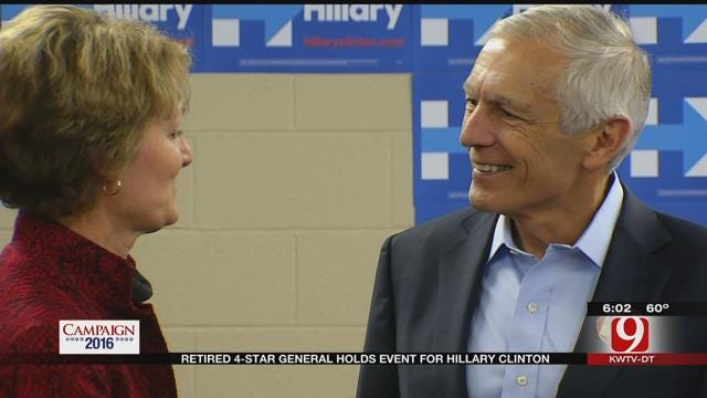 Retired 4-Star General Holds Event For Hillary Clinton