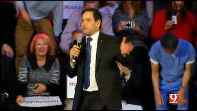 FULL VIDEO: Marco Rubio Rallies In Downtown OKC