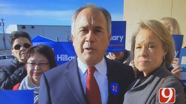 Former Oklahoma Governor David Walters Shows Support For Hillary Clinton