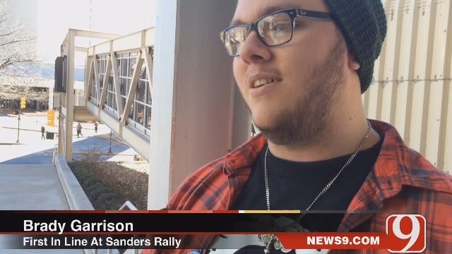 Bernie Sanders Supporter First In Line At Tulsa Rally