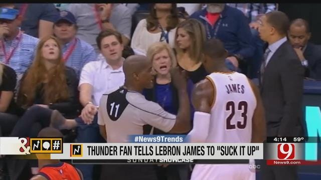 Trends, Topics & Tags: Audio Catches Thunder Fan Trash Talking Lebron James