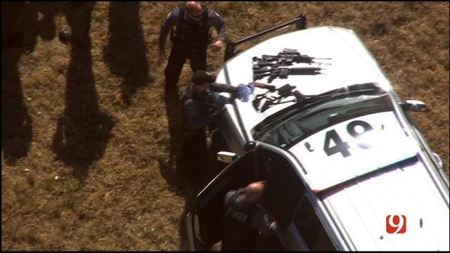 WEB EXTRA: Guns Found In Canadian County Chase Suspect's Vehicle