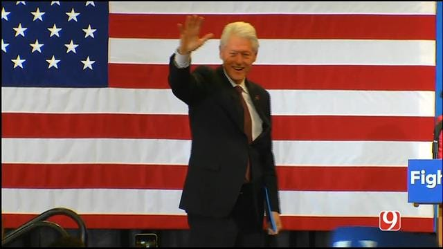 WEB EXTRA: Bill Clinton Speaks During Rally In OKC