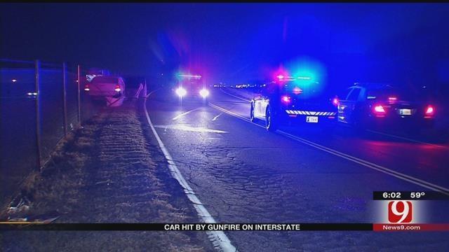 Car Hit By Gunfire On Interstate 240 In SE OKC