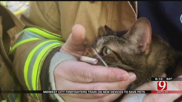 MWC Firefighters Train On New Devices To Save Pets