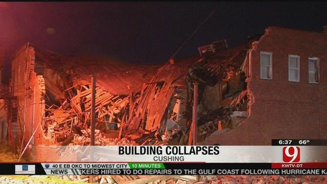 Officials Investigate After Cushing Building Collapses