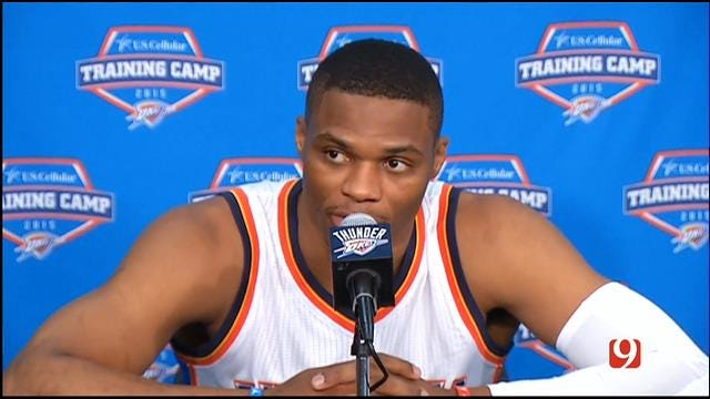 Russell Westbrook At Thunder Media Day