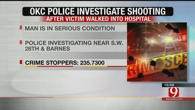 OKC Police Investigate Shooting After Victim Walked Into Hospital