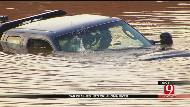 Vehicle Crashes Into Oklahoma River, 2 Taken To Hospital