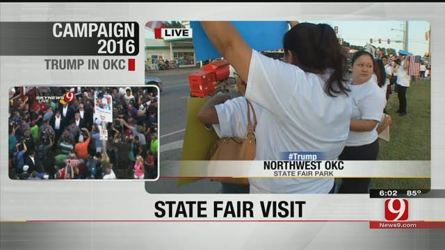 Dream Act Oklahoma Members Protest Donald Trump's Visit To State Fair