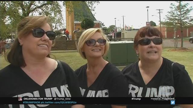 WEB EXTRA: State Fair Crowd Waiting For Donald Trump Speech