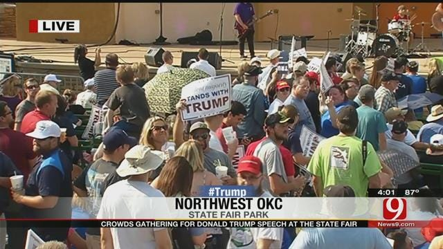 WEB EXTRA: Crowd Gathers For Trump's Speech