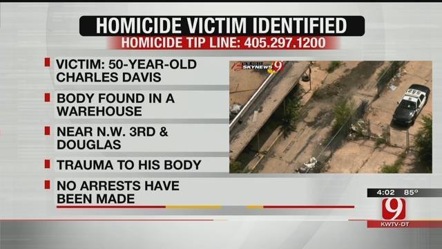 Police Identify Man Found Dead Near Downtown OKC