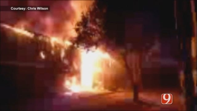 WEB EXTRA: Viewer Video Of Three-Alarm Apartment Fire In OKC